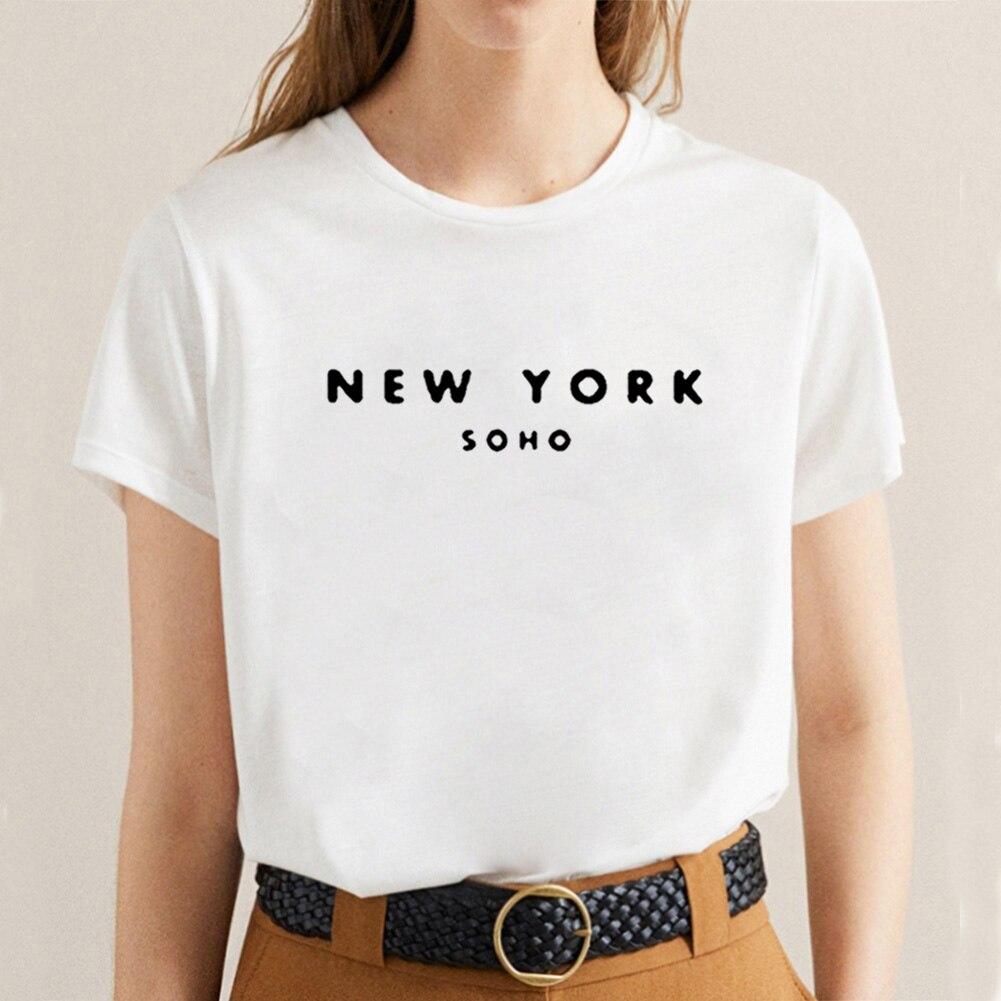Camiseta divertida de Nueva York, Camiseta de manga corta de algodón para...