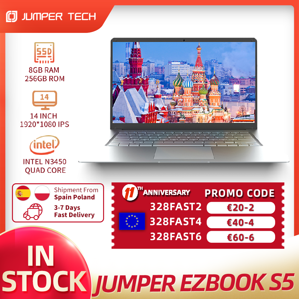 windows 10 laptop EZbook S5 8GB 256GB Intel N3450 Dual Core Win 10 14 Inch 1920*1080 IPS Screen Ultra Slim Notebook