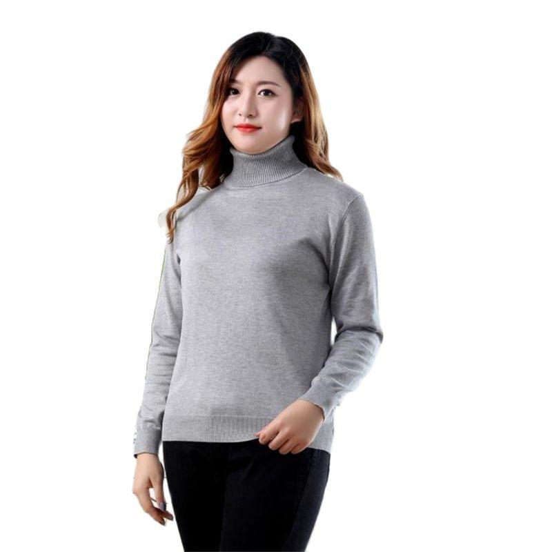 Mujer Primavera de talla grande suéteres elásticos otoño femenino suéter de cobertura...