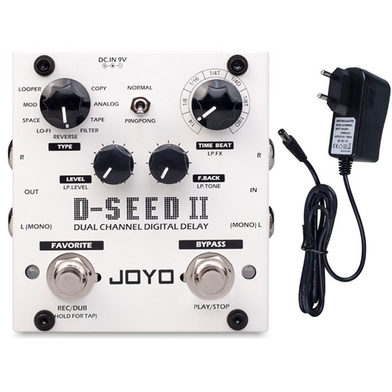 JOYO D-SEED-II Digital Delay Pedal For Electric Guitar Floor Multi Looper & Delay Guitar Effect Pedal Guitar Bass Accessories