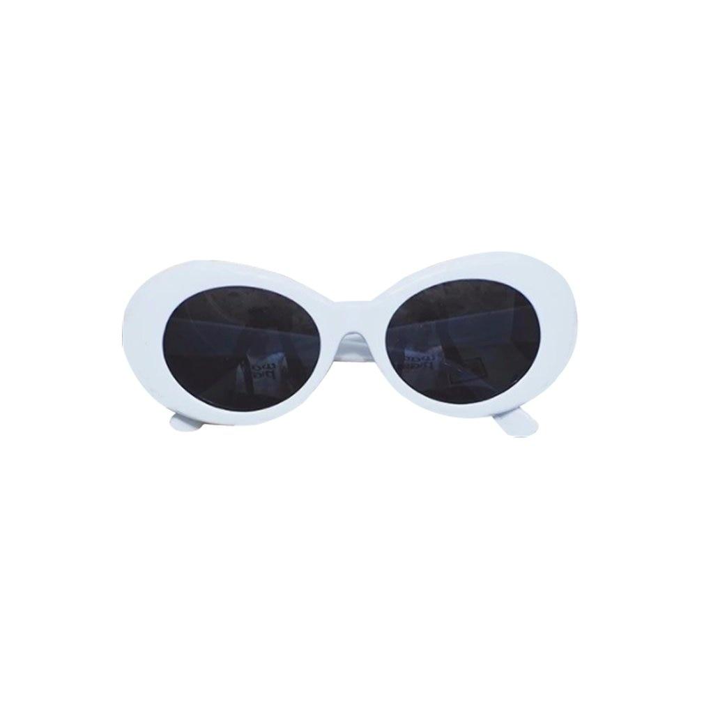 Gafas de sol a la moda de verano para mujer, estilo Retro, ovalado, con montura gruesa, gafas de protección UV, lentes redondos, 51mm