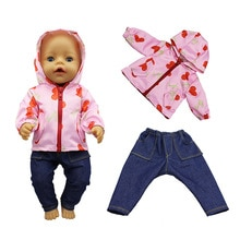2020 New jacket Doll Clothes Fit For 43cm born baby Doll clothes reborn Doll Accessories