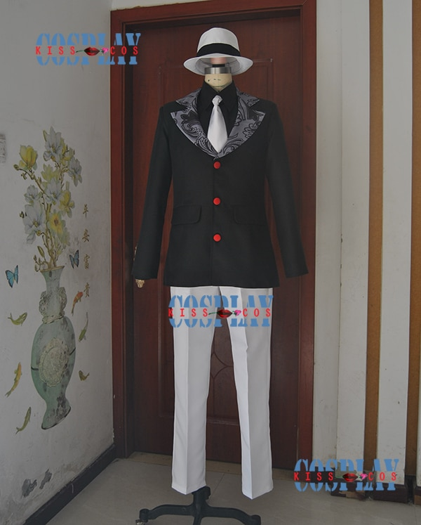 Cazadora de demonio caliente kimetsu no Yaiba Anime Cosplay Kibutsuji Muzan porque Unisex Cosplay traje 5in1 abrigo + camisa + Pantalones + corbata + sombrero