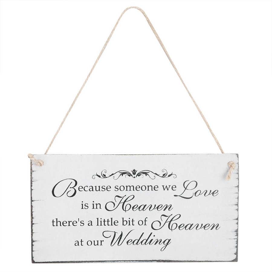 Letrero colgante de madera para boda, placa conmemorativa, regalo ornamental para novio, artesanías de madera, adorno colgante, decoración de boda