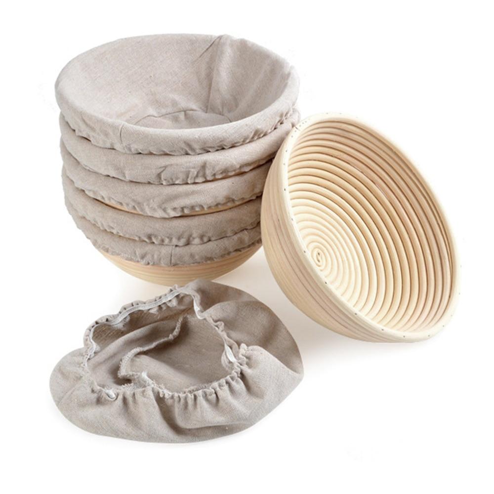 2020 Household Roung Shapes Fermentation Rattan Basket Country Bread Baguette Dough Banneton Proofing Proving Baskets