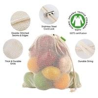 vegetable fruit bagstorage bag reusable produce bagseco friendly100 organic cotton mesh bags bio degradable kitchen