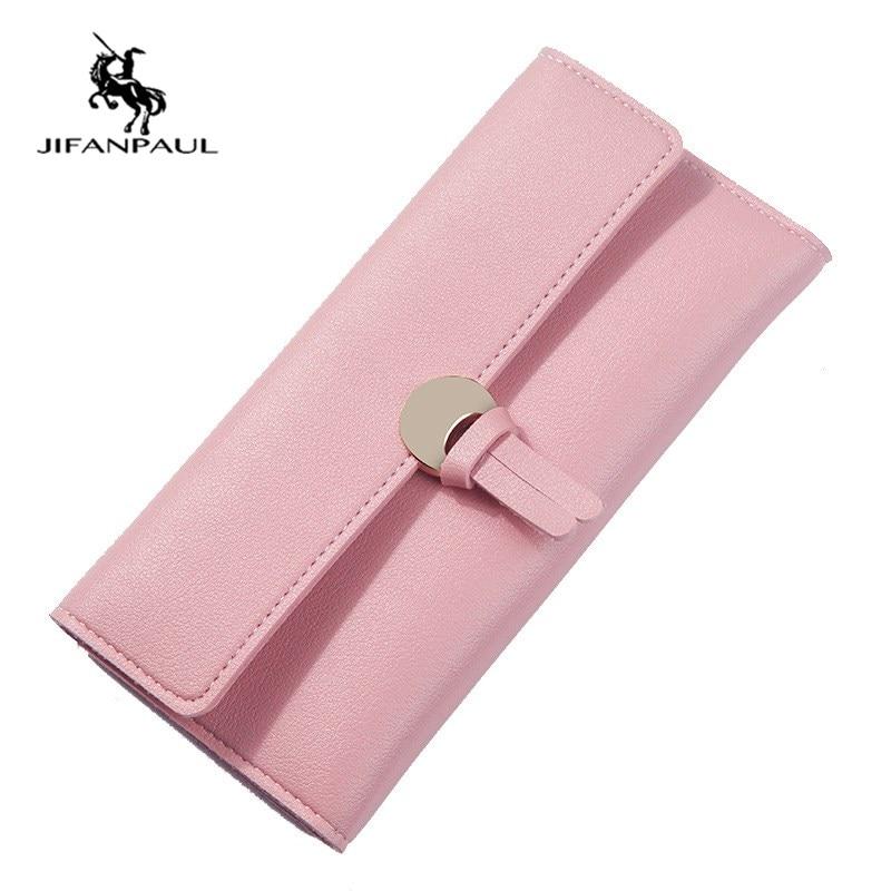 Новинка 2020, женский удлиненный кошелек JIFANPAUL, Складывающийся кошелек с несколькими отделениями для карт, вместительный кошелек, женский кош...