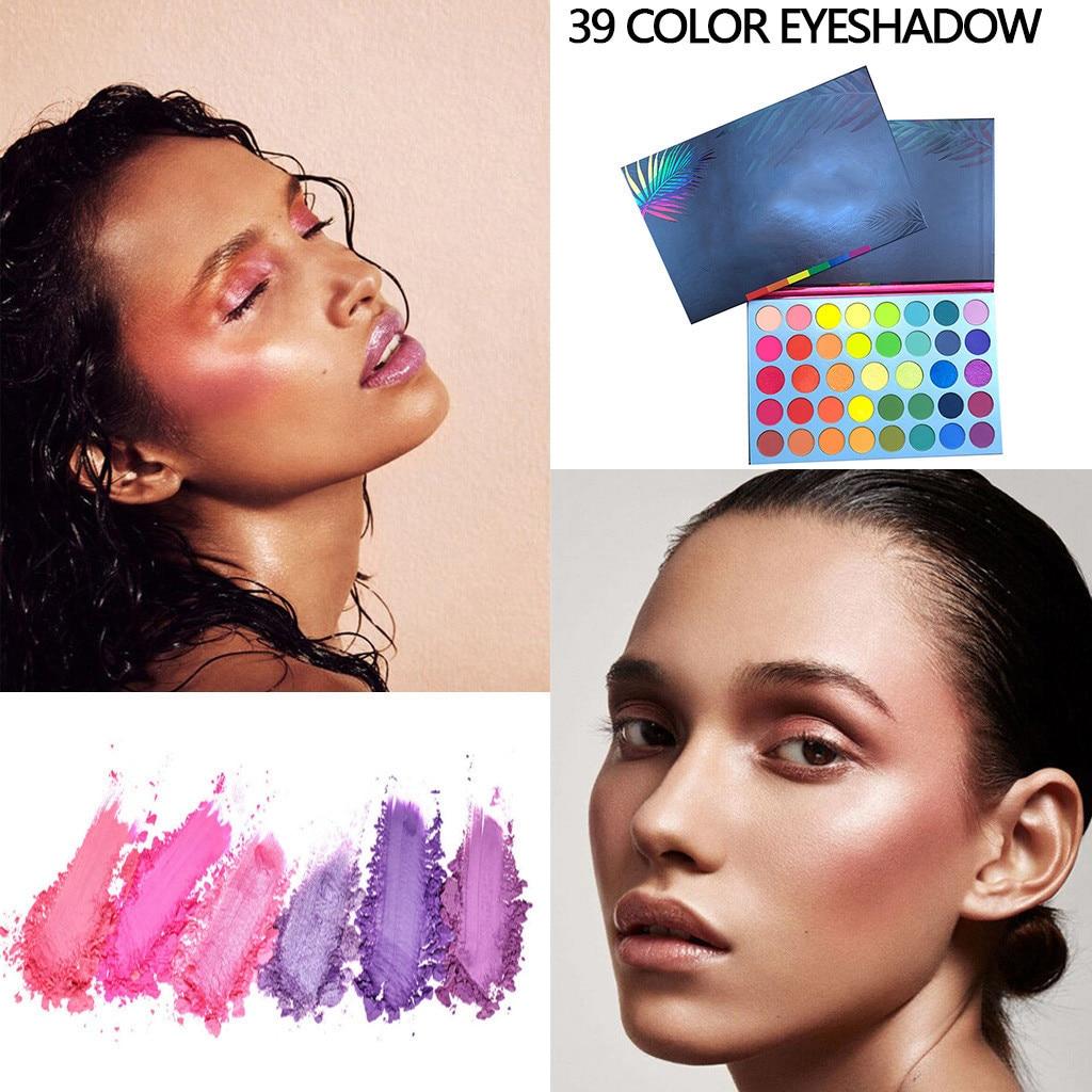 Sombra de ojos profesional, 39 colores Arco Iris brillo sombra de ojos holográfica mate sombra de ojos P alette Pro Cosmética Maquillaje Dropship # ZC