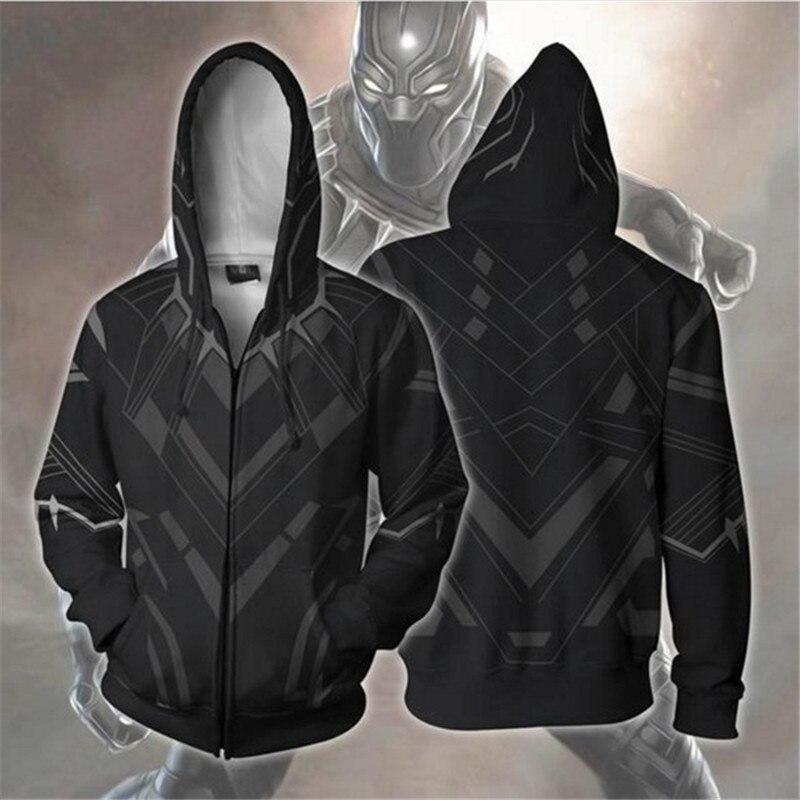 Novo super-herói cosplay svengerss sndgames pantera preta chadwick boseman jaqueta com chapéu camisola de manga curta collants adulto criança