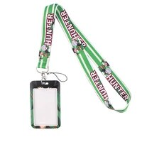 fd0194 the hunter anime keychains accessory mobile phone usb id badge holder keys strap tag neck lanyard for girls