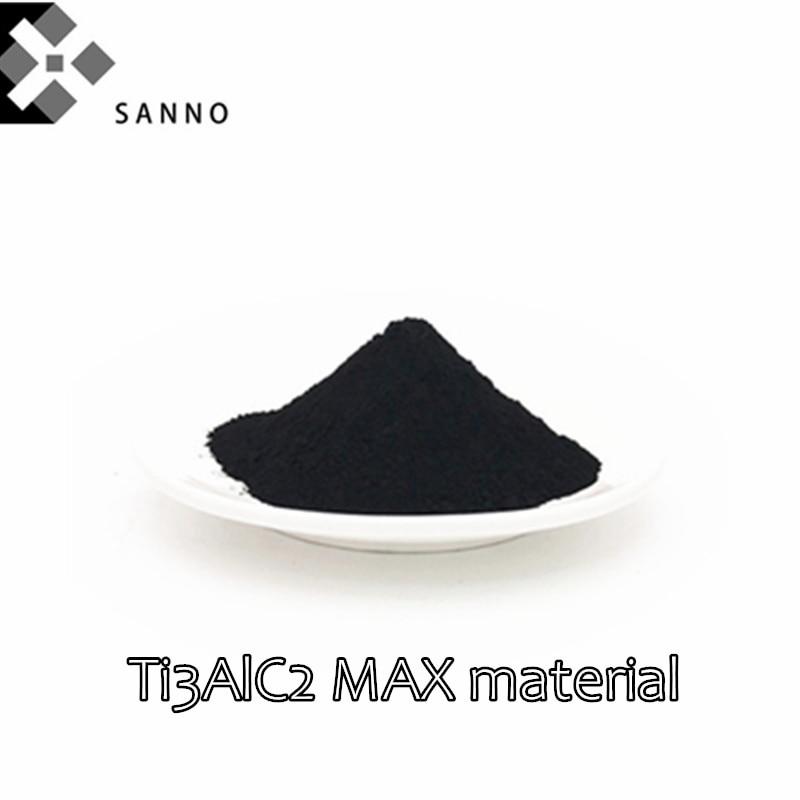 50g-100g 325 شبكة/400 شبكة متقدمة السيراميك سلسلة MXene ماكس المرحلة السيراميك التيتانيوم الألومنيوم كربيد مسحوق Ti3AlC2 ماكس المواد