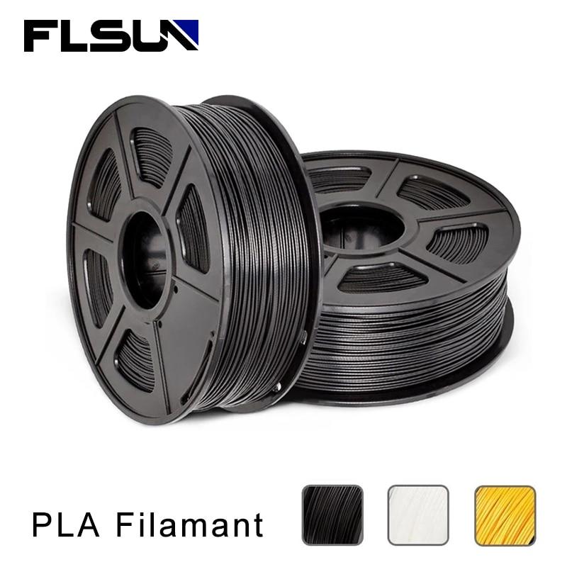 FLSUN-خيوط PLA خاصة ، أسود ، أبيض ، أصفر ، قطر 1.75 مم ، 1 كجم
