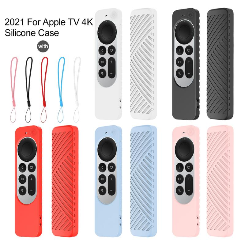 Funda protectora de silicona colorida para Apple TV 4, bolsa de almacenamiento...