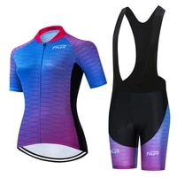 teleyi 2020 pro women short sleeve cycling jersey set summer mtb bike clothing suit racing bicycle wear mayot ciclismo mujer