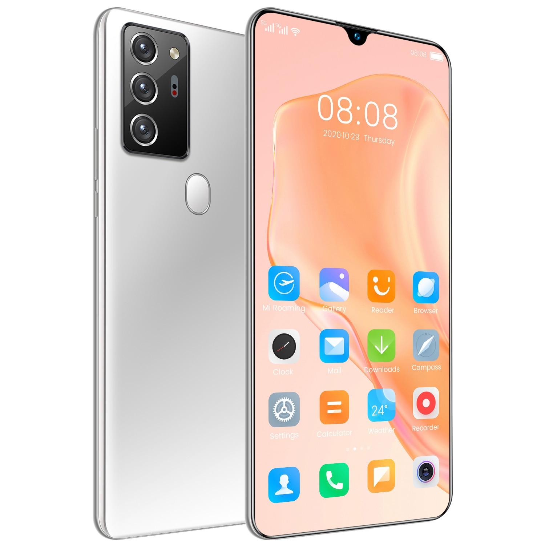 Глобальная версия Note80 Pro 7,1 дюймовыйж смартфон 10-ядерный процессор высокой четкости Пиксели большой Экран ультра-тонкий мобильный телефон