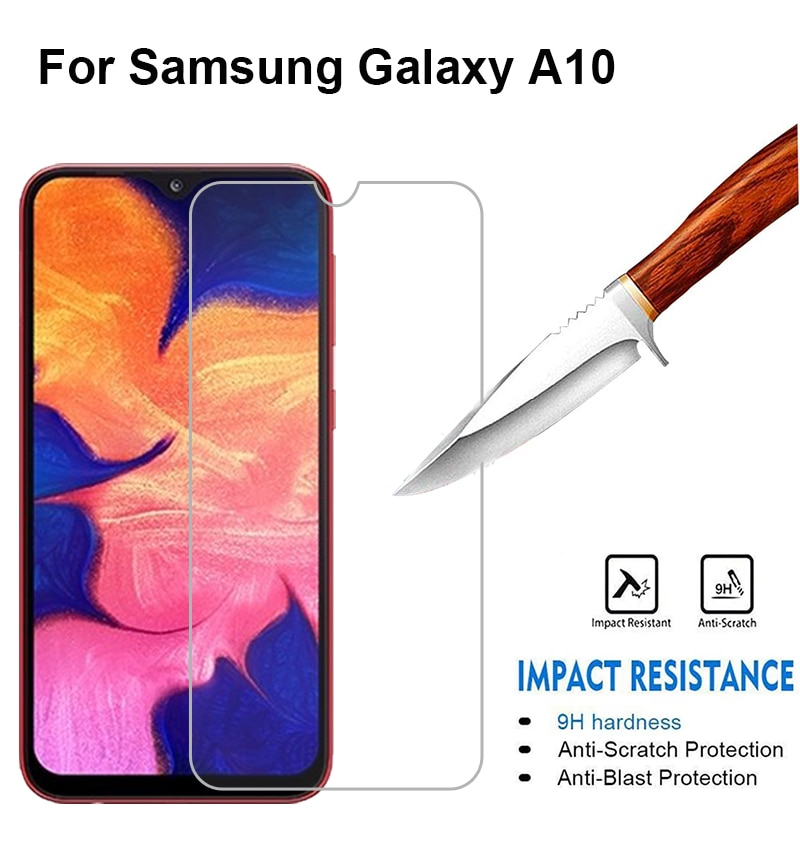2PCS Tempered Glass sFor samsung galaxy a10 screen protector Protective Glass on the For galaxy a10