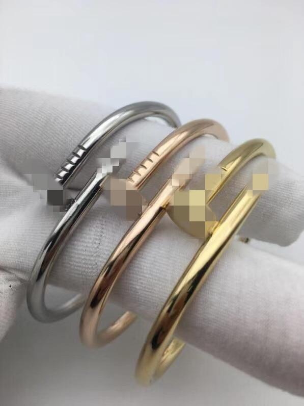 Новое поступление Титановый стальной браслет для ногтей Carter классический дизайн мужской женский модный праздничный подарок
