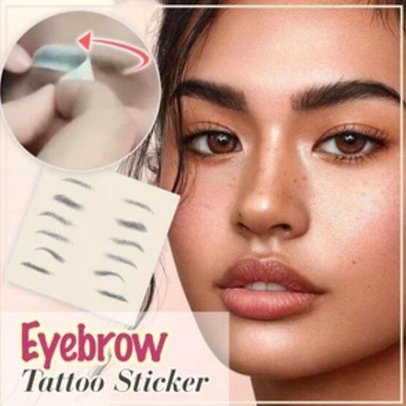 À prova dwaterproof água duradoura sobrancelha tatuagem adesivo 4d cabelo-como sobrancelhas maquiagem à base de água sobrancelhas falsas henna cosméticos