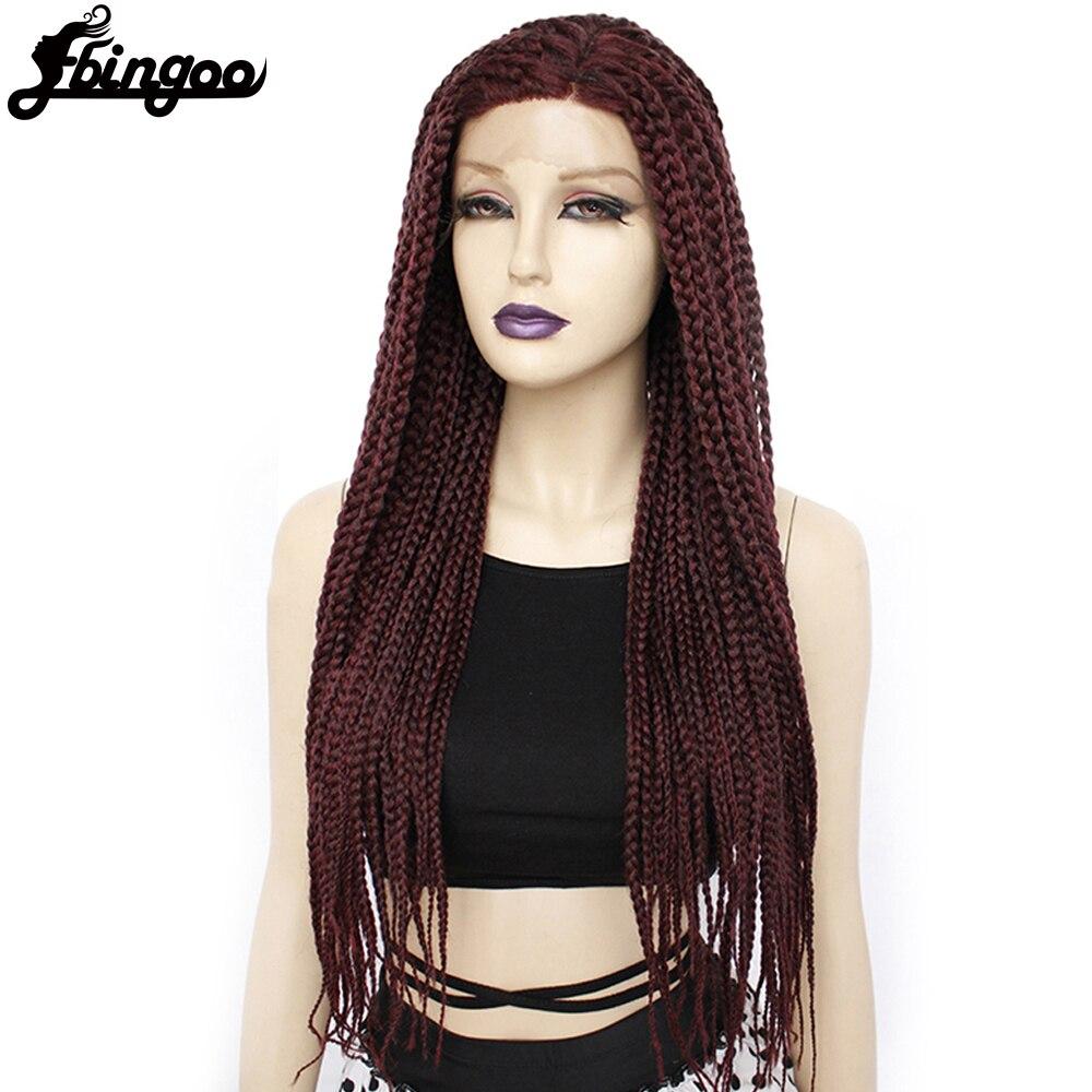 【Ebingoo】 شعر مستعار صناعي طويل خالٍ من الصمغ ، شعر مستعار أمامي من الدانتيل المجدول ، شعر مستعار نسائي أفرو ، ملابس يومية