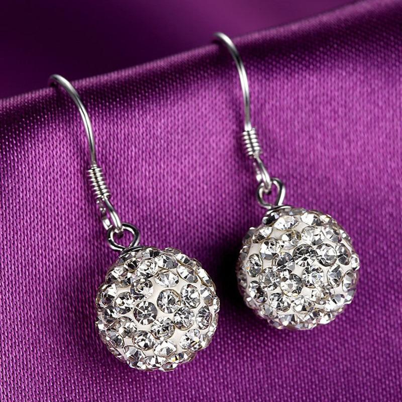 Женские серьги с кристаллами, Винтажные серьги «Шамбала»