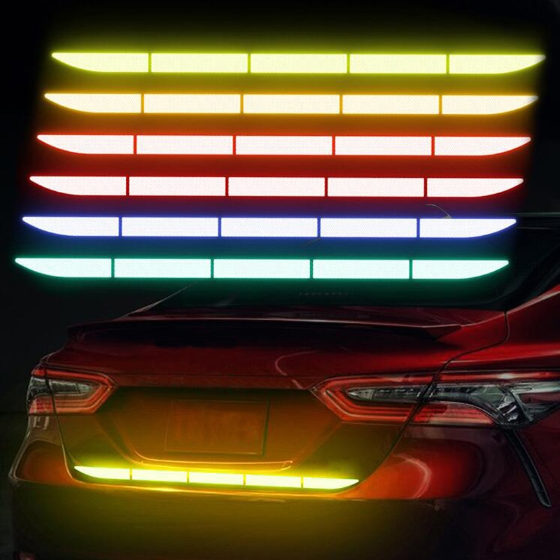 Car Trunk Reflective Warning Sticker Strip For Kia Rio K2 K3 Ceed Sportage 3 sorento cerato armrest picanto soul optima