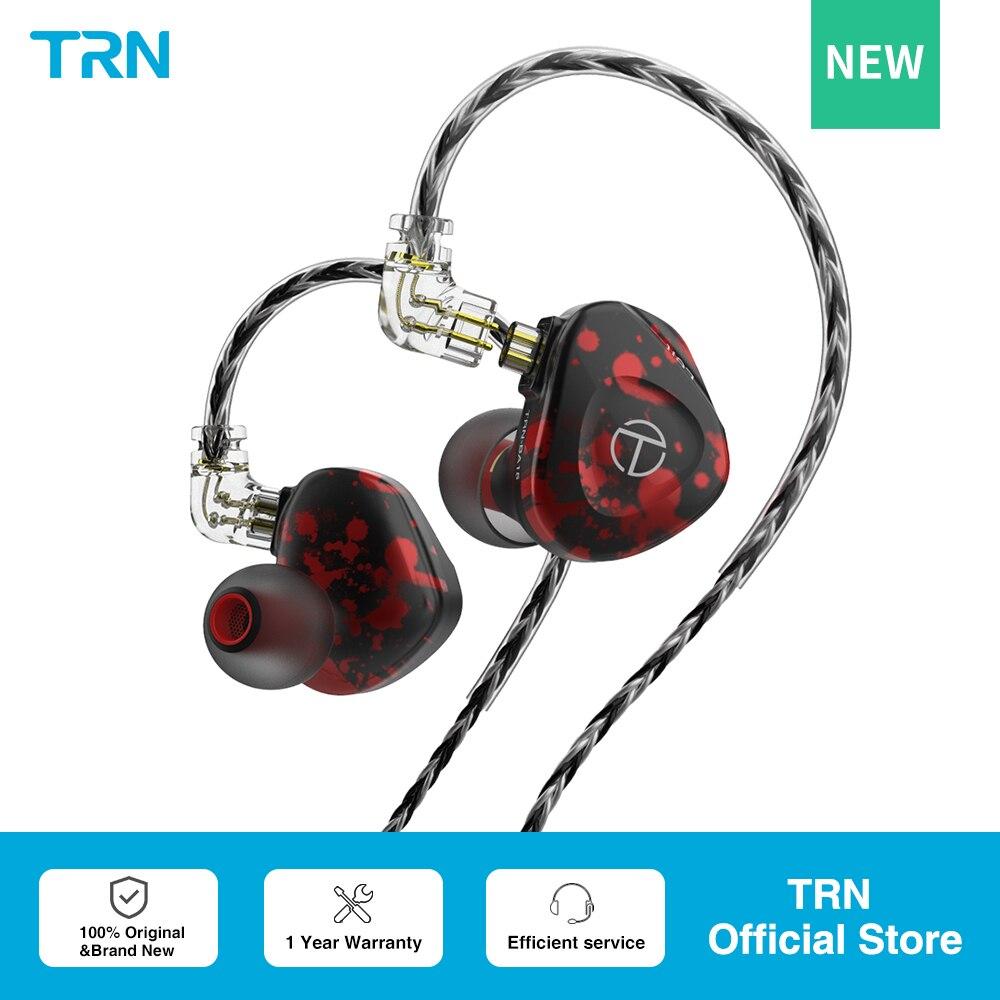 Внутриканальные наушники TRN BA15 30BA, сбалансированные Hi-Fi наушники-вкладыши с монитором DJ, наушники с кабелем QDC TRN VX V90S T300 TA1