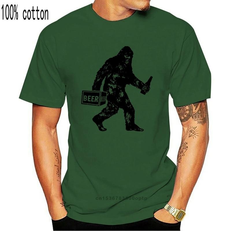 Bigfoot T Shirt Grappig Bier Drinken Vintage Sasquatch Gift Retro Cool Tee 41 Losse Size Top Ajax Tee Shirt