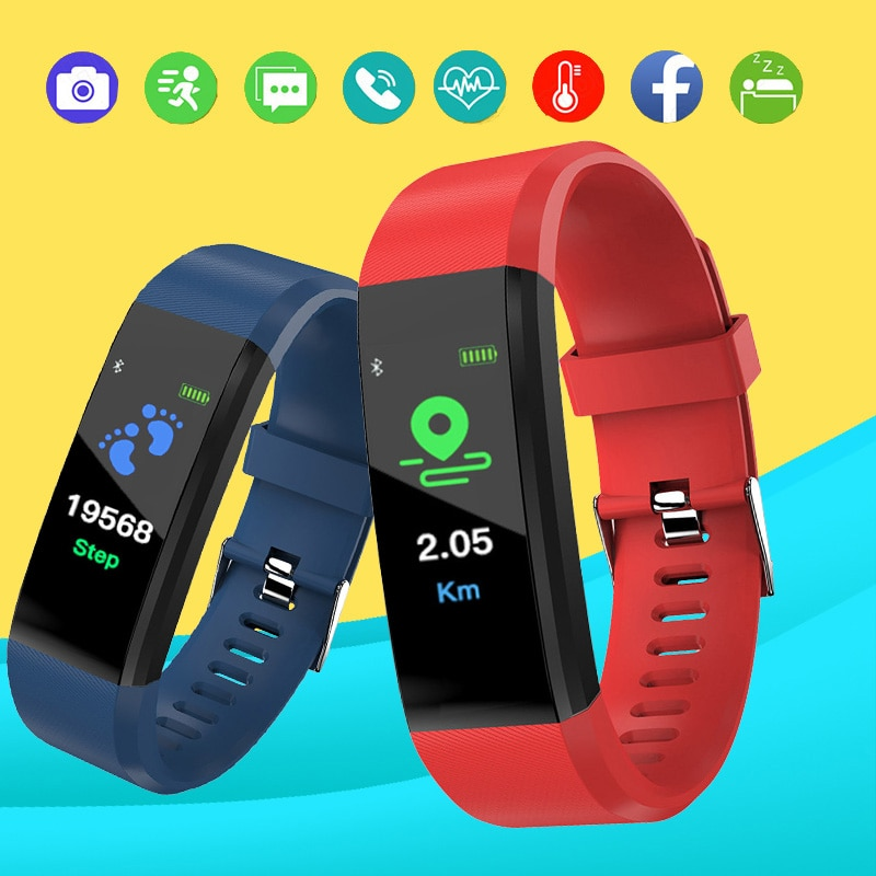 j1 smart wristband color display fitness tracker bracelet heart rate monitor blood pressure ip67 waterproof watches pk fitbits Color Screen Bracelet Man And Women Sports Fitness Watch Smart Wristband Tracker Waterproof Blood Pressure Heart Rate Monitor