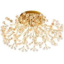 Nouveau design créatif cristal plafonniers moderne cristal lampe lustre chambre à coucher lumière