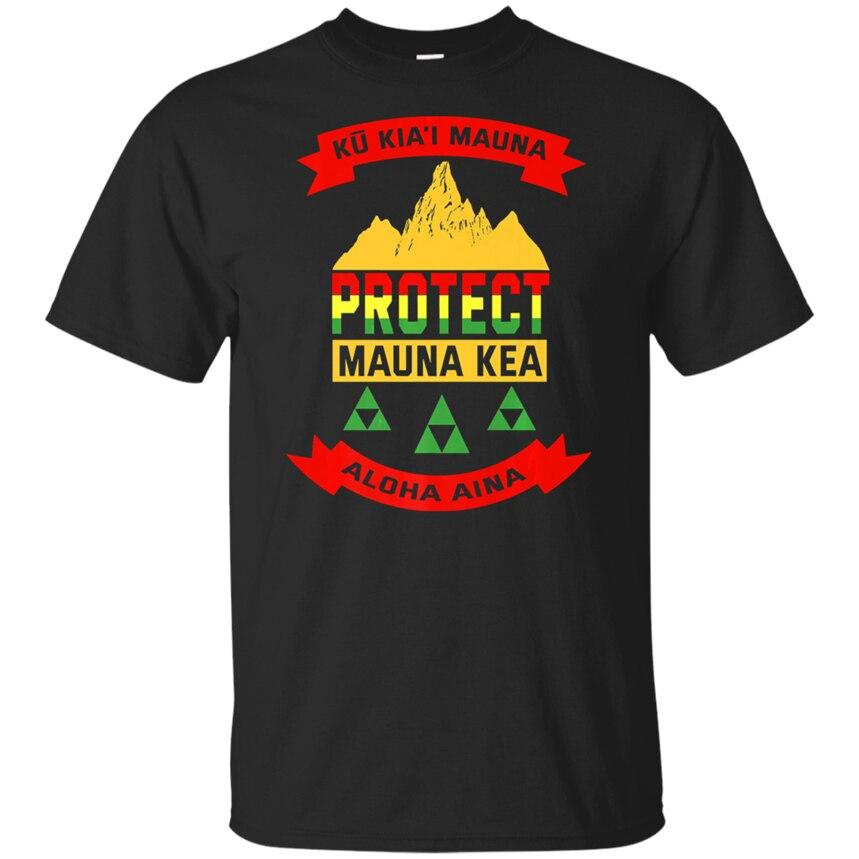 Proteger Mauna Kea camisas estamos Mauna Kea Ku Kiai Pareo hombres camiseta S 2Xl presente Casual camiseta