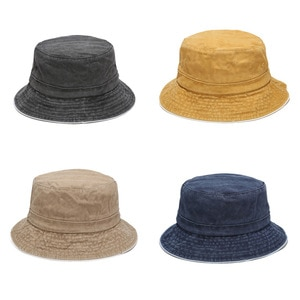 European and American New Style Washed Retro Cotton Edging Fisherman Hat Men and Women Outdoor Sun Hats Hot Selling Basin Hats