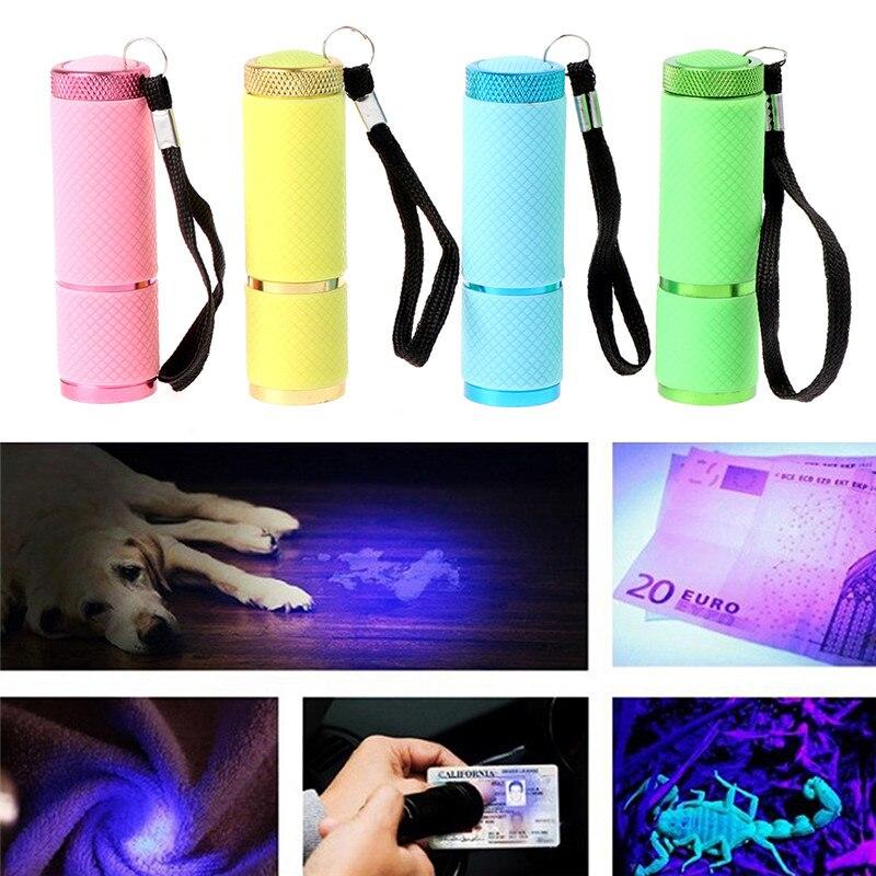 1PCS Useful Mini LED UV Gel Lamp Light Nail Dryer Flashlight Nail Polish Manicure