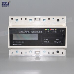3phase 4wire energy meter 3x100V/220V/380V LCD number display kwh meter electricity power meter  30A, 60A ,80A,100A