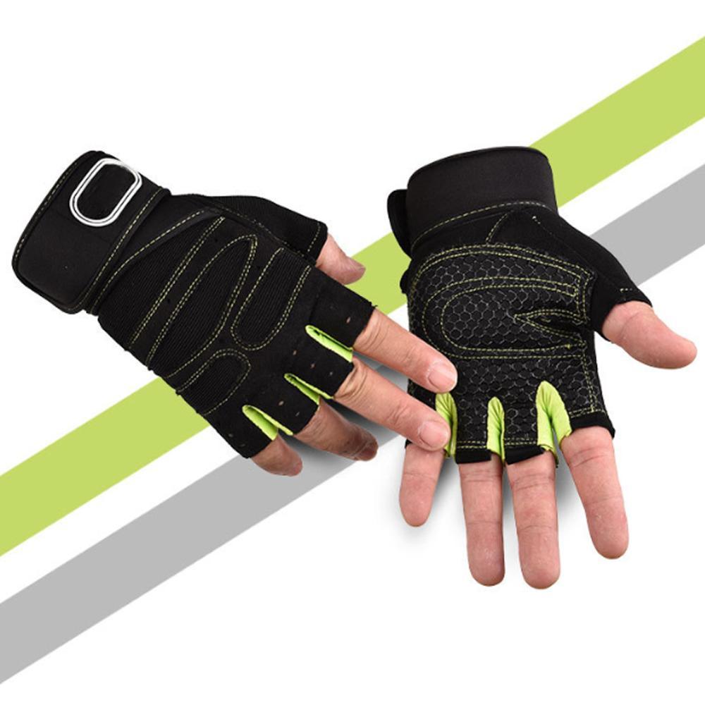 Cycling Gloves Non-slip MTB Gloves Mountain Bike Half Finger Gloves Men  Gym Fitness Sports Gloves Non-slip Sports Exercise