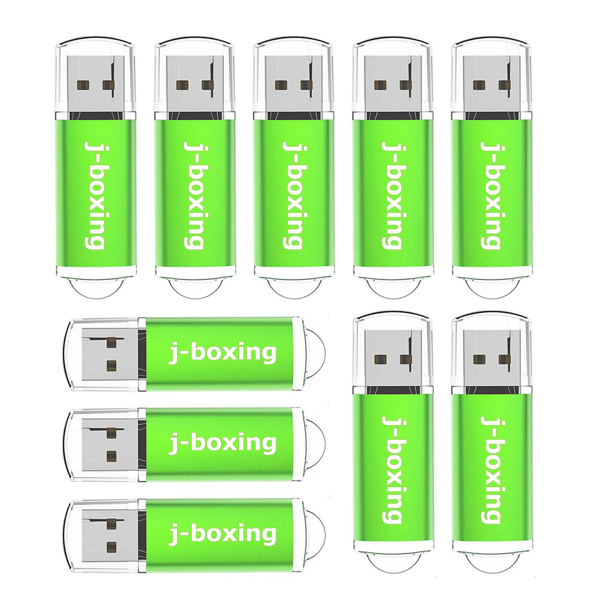 J-boxing 10PCS 256MB USB Flash Drive Pack 64MB 128MB 512MB Small Cacapity USB Storage Thumb Drive Jump Drive Pen Drive Green