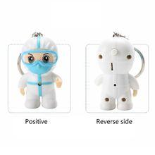 Anti-epidemic Souvenir White Angel Keychain Cartoon Nurse Keyring Pendant Toys 40JF