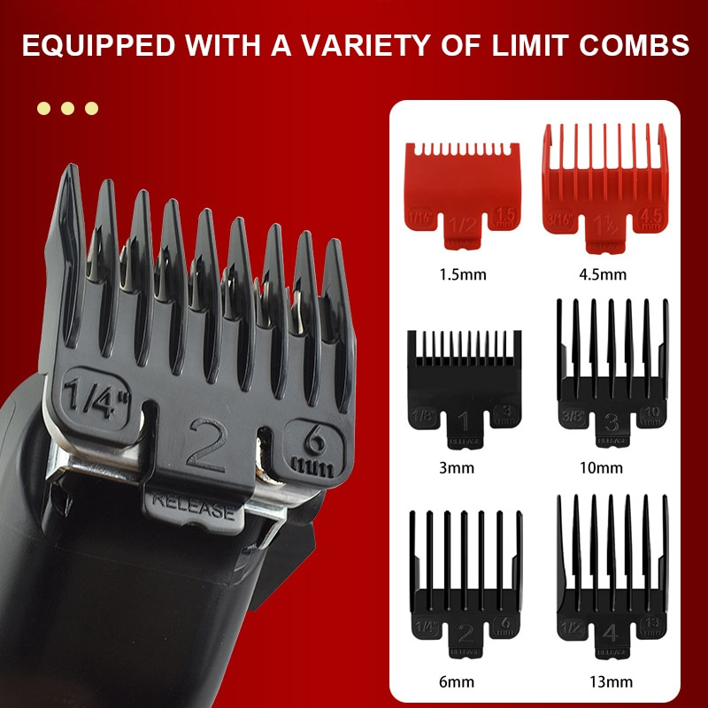 Professional barber hair clippers home Hair cutting machine with LCD Display Adjustable cone rod trimmer for men Grooming Kit enlarge