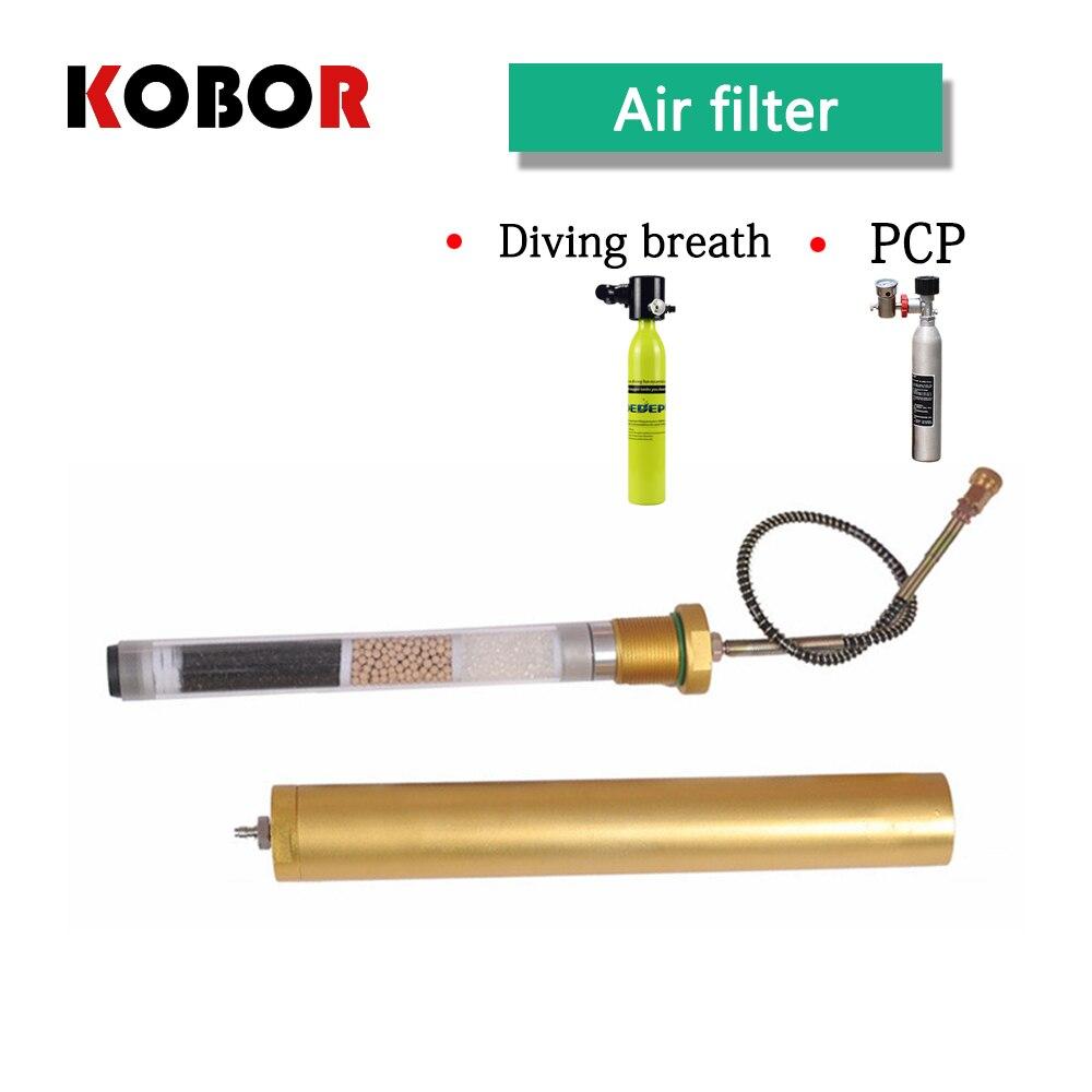 Filtro de compresor de aire PCP, cilindro de buceo, filtro de buceo. Filtro de aliento de carbón activado. Separador de aceite y agua PCP 30MPA 4500psi