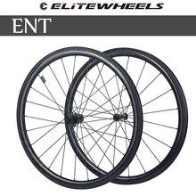Elitewheel 700c vélo de route carbone roues 3k Twill UCI qualité carbone jante Tubeless prêt Sapim serrure sécurisée mamelon cyclisme sur route