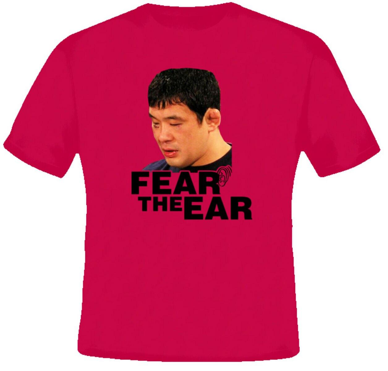 Sakuraba japão harajuku streetwear camisa homem lutador medo da orelha t camisa