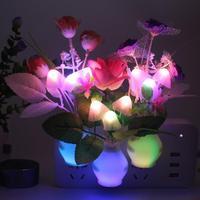 Многоцветный ночной горшок светодиодный ночной Светильник Романтический красочного гриба лампа Энергосберегающая Спальня лампа домашний...
