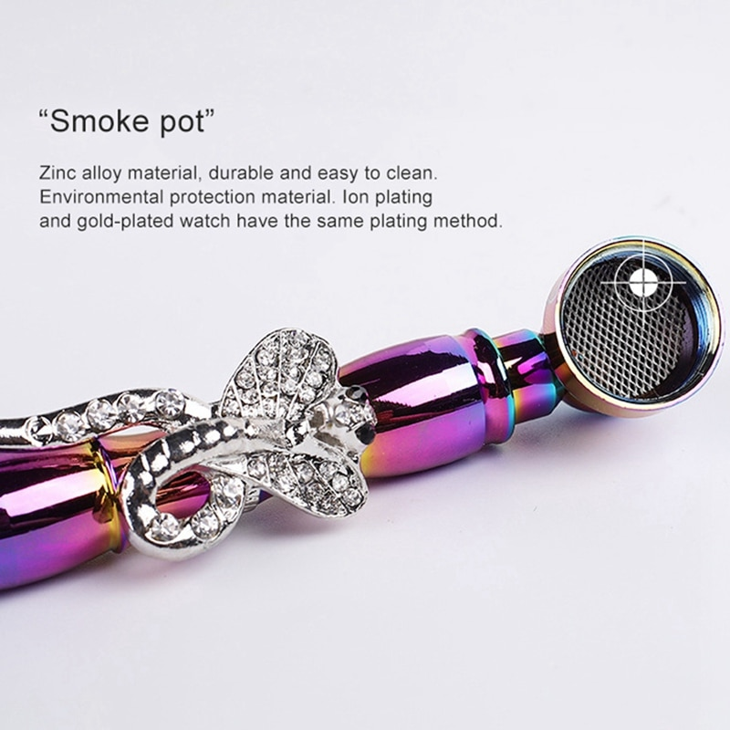 Zinc Alloy Metal Skull Smoking Pipes Small Classic Tobacco118MM Metal Bowl Smoking Hand Spoon Fit Dry Herb Smoking
