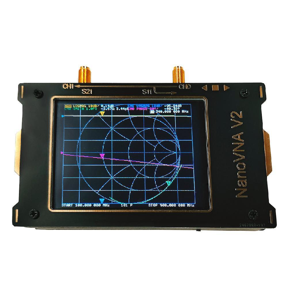 S-A-A-2 VNA V2 3G Vector Network Analyzer 3.2 Inch Antenna Analyzer Shortwave HF VHF UHF Measure Duplexer Filter