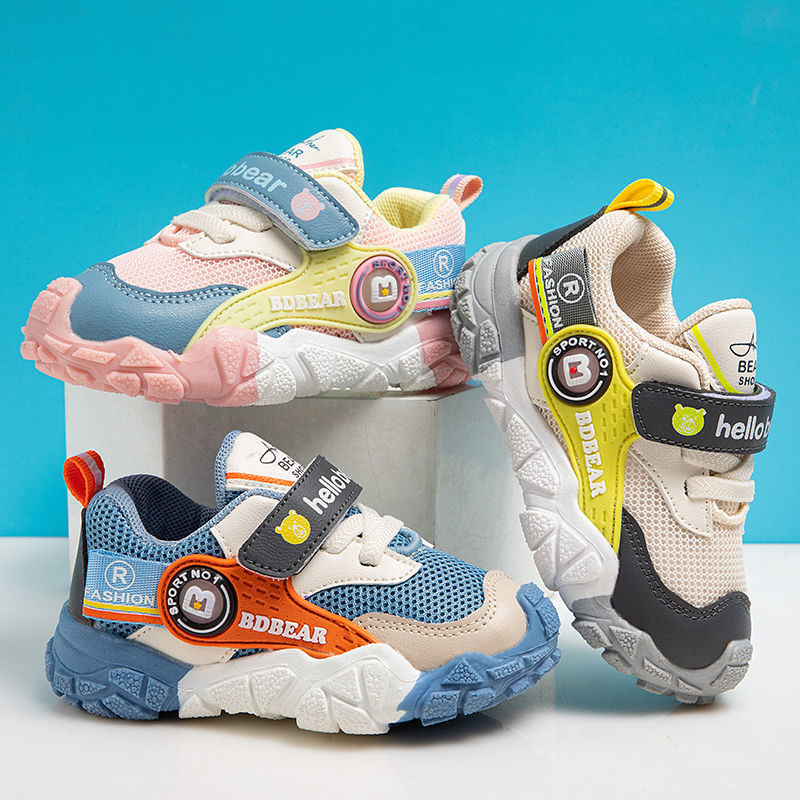 Spring Autumn Childrens Shoes Boys Sports Shoes Breathable Baby Girls Toddler Shoes Soft-soled Kids