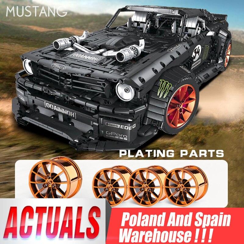 Yeshin 20102 18 Technic Cars The Mustang Hoonicorn V2 набор сборочных автомобилей модель игрушки Совместимые строительные блоки кирпичи
