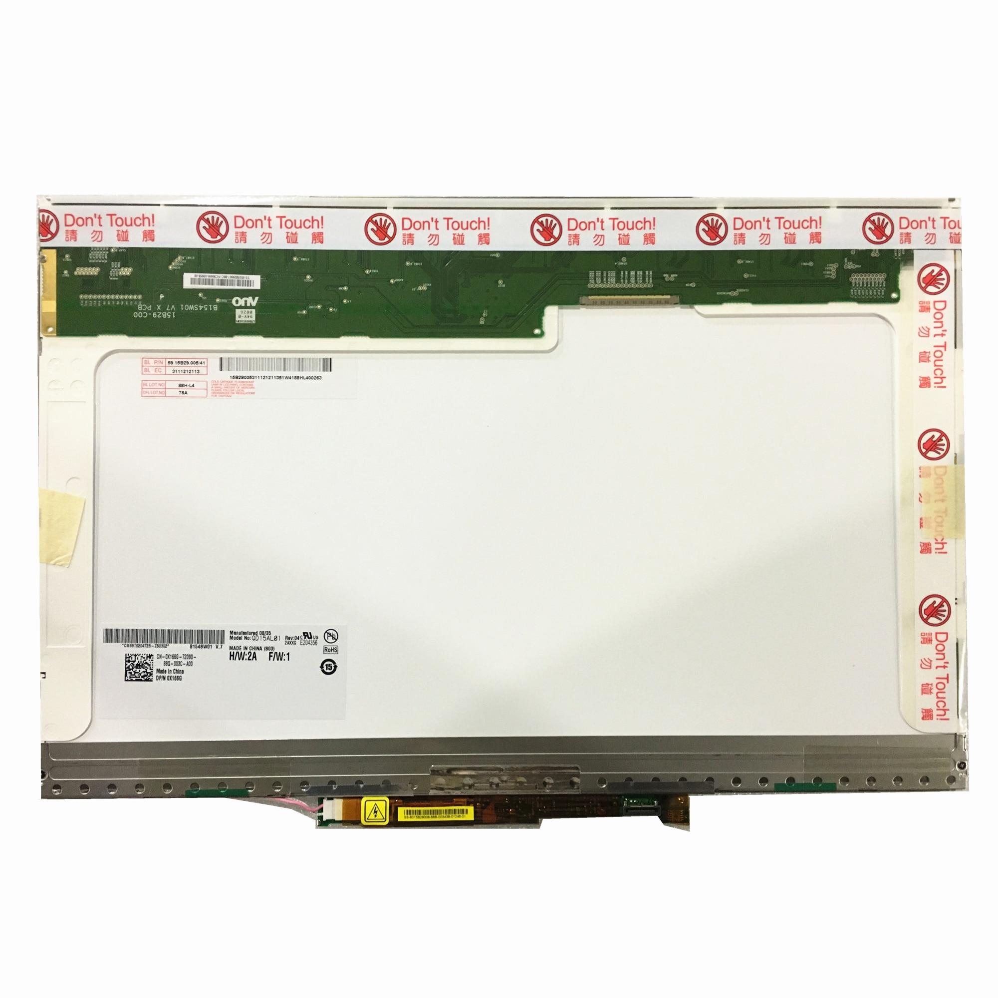 Free shipping QD15AL01 B154SW01 V0 LP154WE2-TLA1 15.4 inch laptop lcd screen 1680*1050 LVDS 30pin