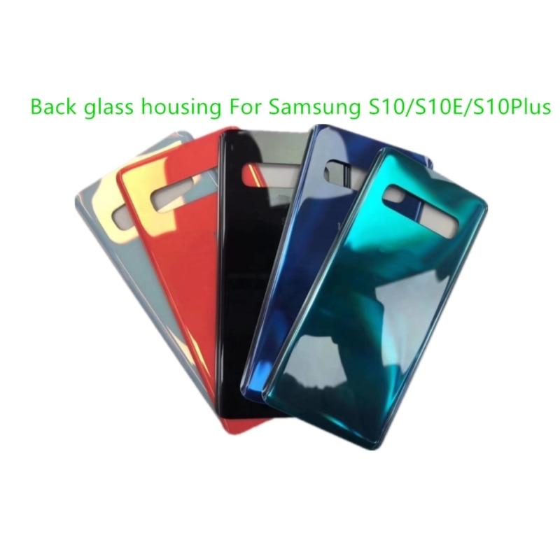 Back Glass Rear Cover Voor Samsung Galaxy S10 G973F S10E G970F S10Plus G975F Batterij Deur Behuizing Batterij Back Cover