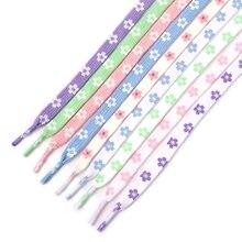 New Sakura Shoelaces Flat Little Daisies Shoe laces High-top Canvas Sneakers Shoelace AF1 Laces Shoe