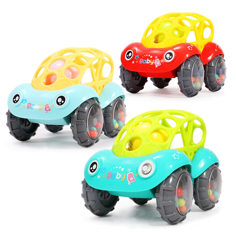 Baby Plastic Non-toxic Colorful Animals Hand Jingle Shaking Bell Car Rattles Toys Music Handbell for