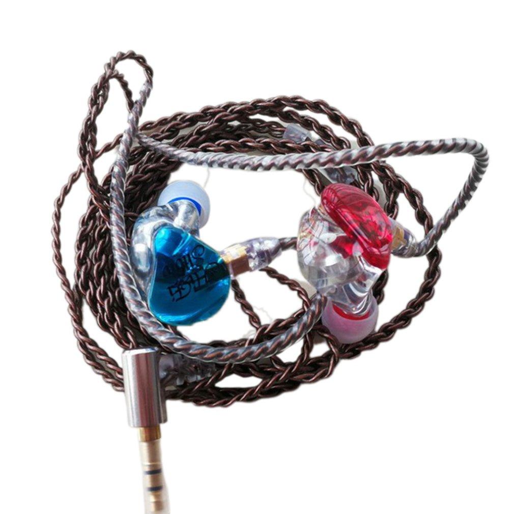 In-Ear Headphones Diy Custom Resin Mmcx Circle Iron Subwoofer Mobile Music Headphones + Headphone Cable
